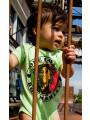 Bob Marley Baby Grow One Love Lime photoshoot