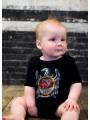 Slayer Baby Grow Silver Eagle photoshoot