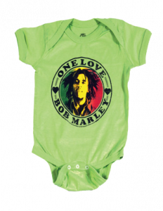Bob Marley Baby Grow One Love Lime