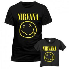 Duo Rockset Nirvana Father's T-shirt & Kids T-Shirt Smiley