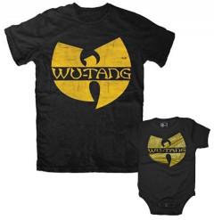 Duo Rockset Wu-Tang Clan Father's T-shirt & Wu-Tang Clan Onesie Baby