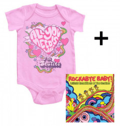 Giftset Beatles Baby Grow All You Need Is Love & Beatles Rockabyebaby cd