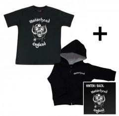 Giftset Motörhead Baby Hoody zip & Motörhead Baby T-shirt