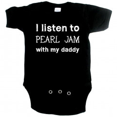 Rock babygrow I listen to Pearl Jam with my daddy
