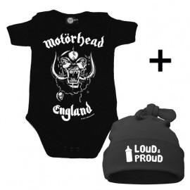 Infant Giftset Motörhead Creeper infant/baby & Loud & Proud Hat