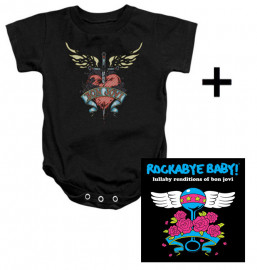 Baby rock giftset Bon Jovi Baby Grow Heart & CD