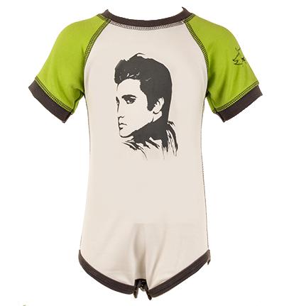 Elvis Onesie front head elvis