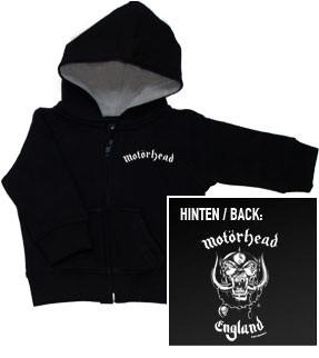Motorhead Baby Hoody England Zip