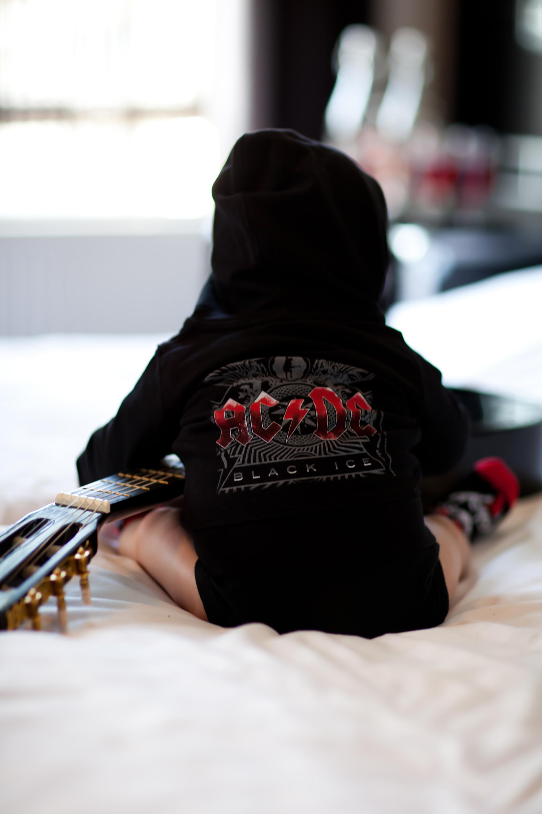 AC/DC Baby hoodie Black Ice