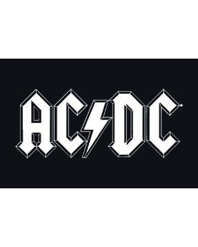 AC/DC Baby Rock Bib logo white