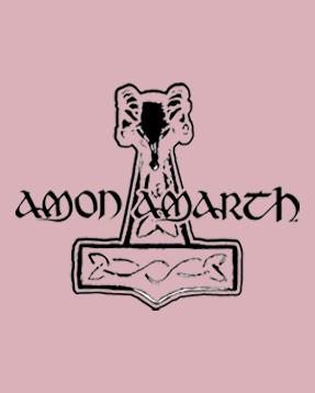 Amon Amarth Baby Grow Logo Pink