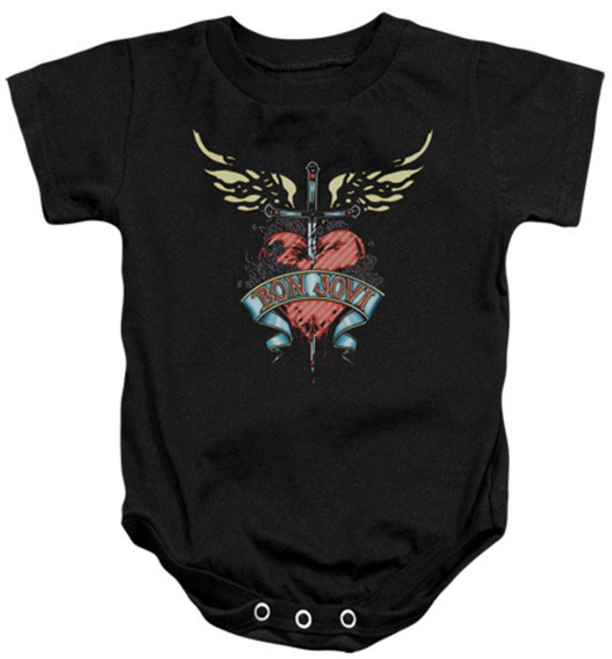 Bon Jovi baby onesie Heart
