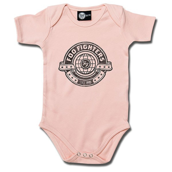 Foo Fighters Baby Grow Logo Pink