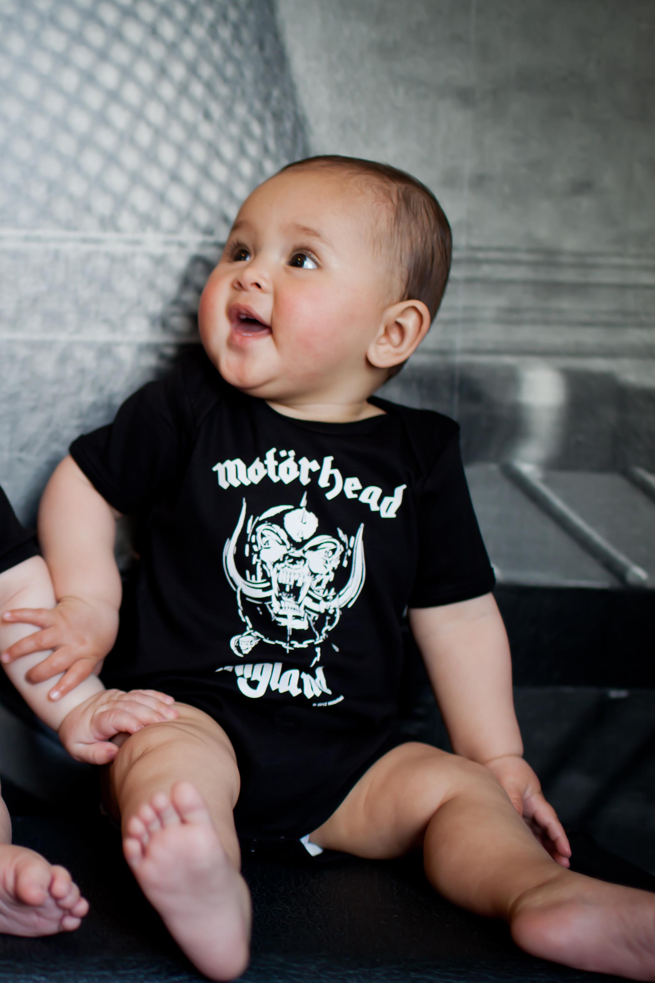 Motorhead baby onesie England