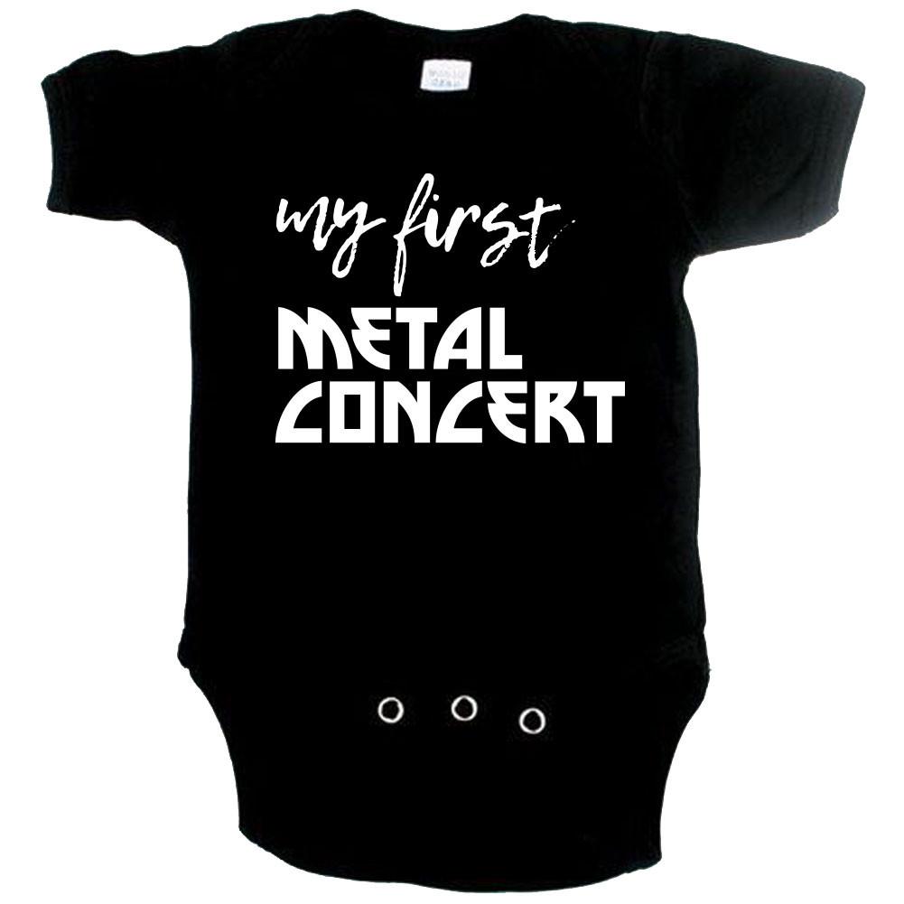 Metal babygrow my first metal concert