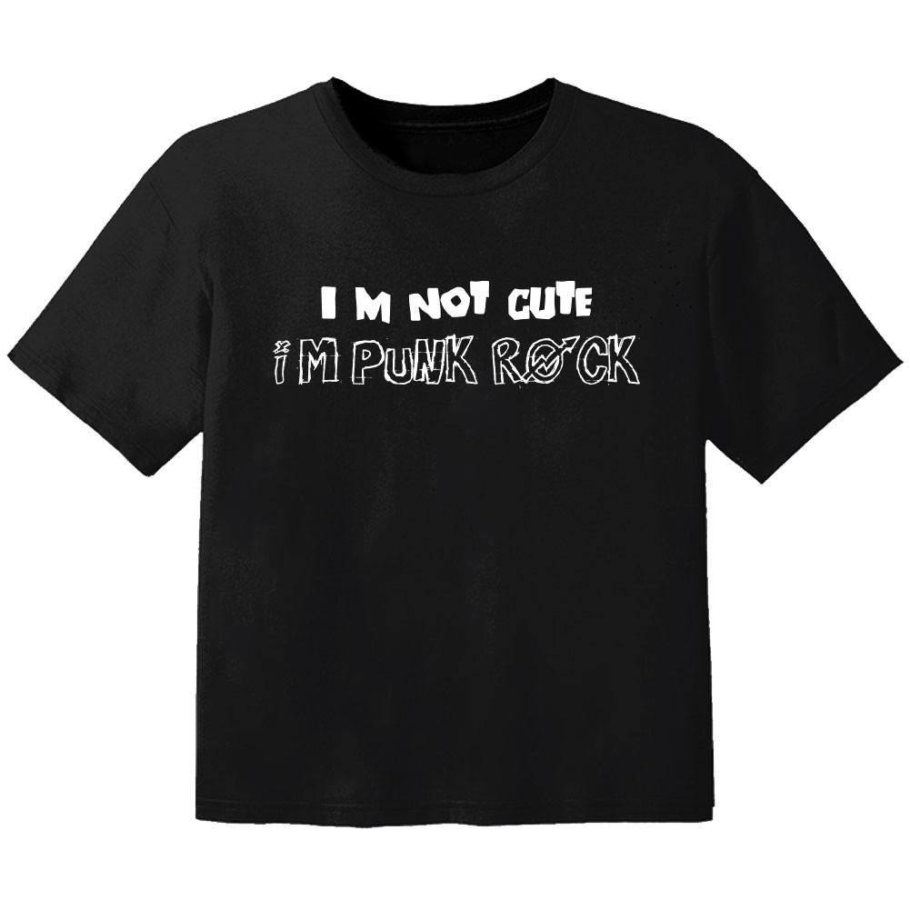 rock kids t-shirt im not cute im punk rock