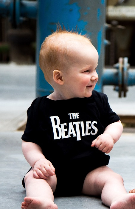 The Beatles Baby Grow Eternal Black photoshoot
