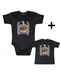 Baby rock giftset Slayer Baby Grow Eagle & Baby T-shirt