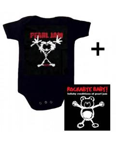 Baby rock giftset Pearl Jam Baby Grow Stickman & CD