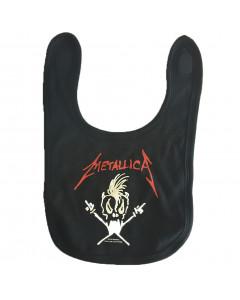 Metallica Baby Rock Bib logo white