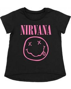 Nirvana Toddler T-Shirt Smiley Pink
