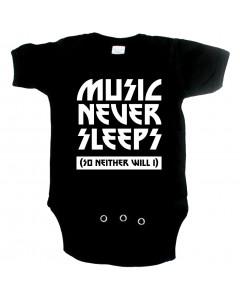 Cool babygrow music never sleeps so neither will I