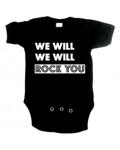 Cool babygrow we will rock you