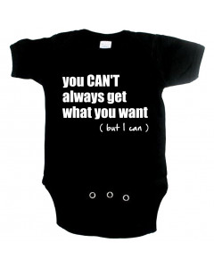 Cool babygrow you cant always get what you want but I can