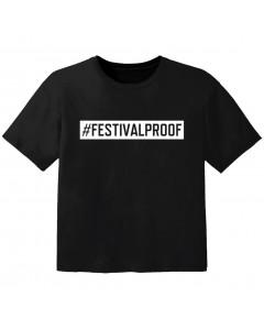 festival kinder t-shirt #festivalproof